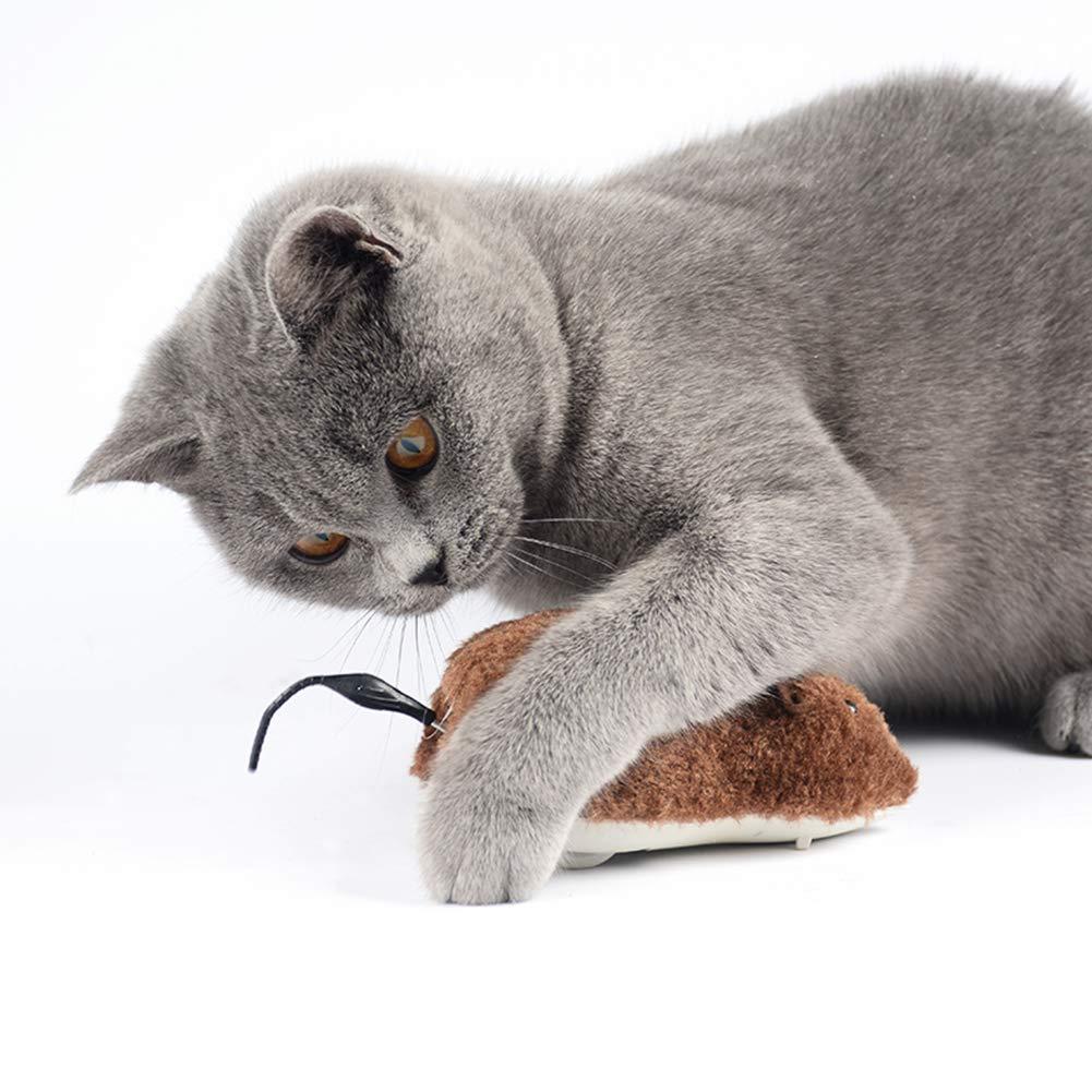 Mover el Juguete del Gato del Ratón, El Juguete del Cazador del Chip de Sonido Clockwork Mouse para el Gato Gatito Perro Mascota Regalo de la Novedad 3 Pack ...