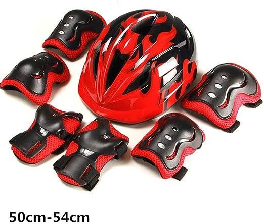 WERT 7 Unids/Set Niños Patinaje Ciclismo Casco Guardia Codo ...