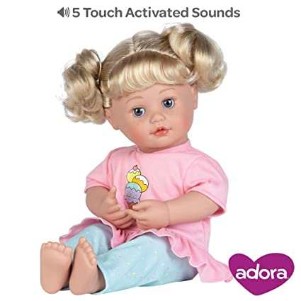 Adora Interactive Doll, 15 inch My Cuddle & Coo Baby Sweet Dreams, 5-Touch  Activated Features - Cries, Coos, Giggles, Kisses Back & Says Momma
