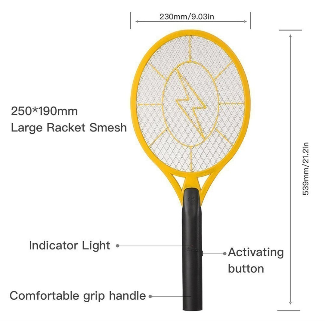 Handheld Bug Zapper Electric Bug Zapper Fly/Mosquito Swatter Best for Indoor and Outdoor Pest Control by Zapz (Image #4)