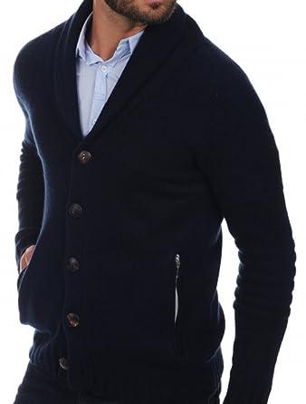 Balldiri Premium Cashmere Herren Strickjacke Schalkragen 10