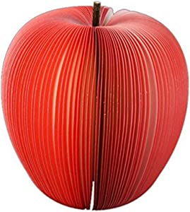 Apple Shape Note Paper 3D Fruit Writing Stationary Portable Memo Notepad Message Scratch Pad Wedding Gift redsecurity