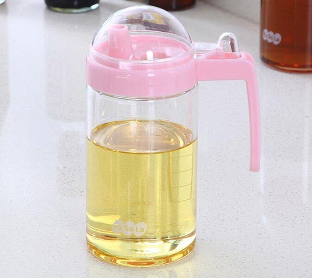 FJXLZ® Botella de aceite y vinagre, botella de aceite de vidrio libre de plomo Botella de aceite a prueba de fugas Pequeño y ligero Almacenamiento ...