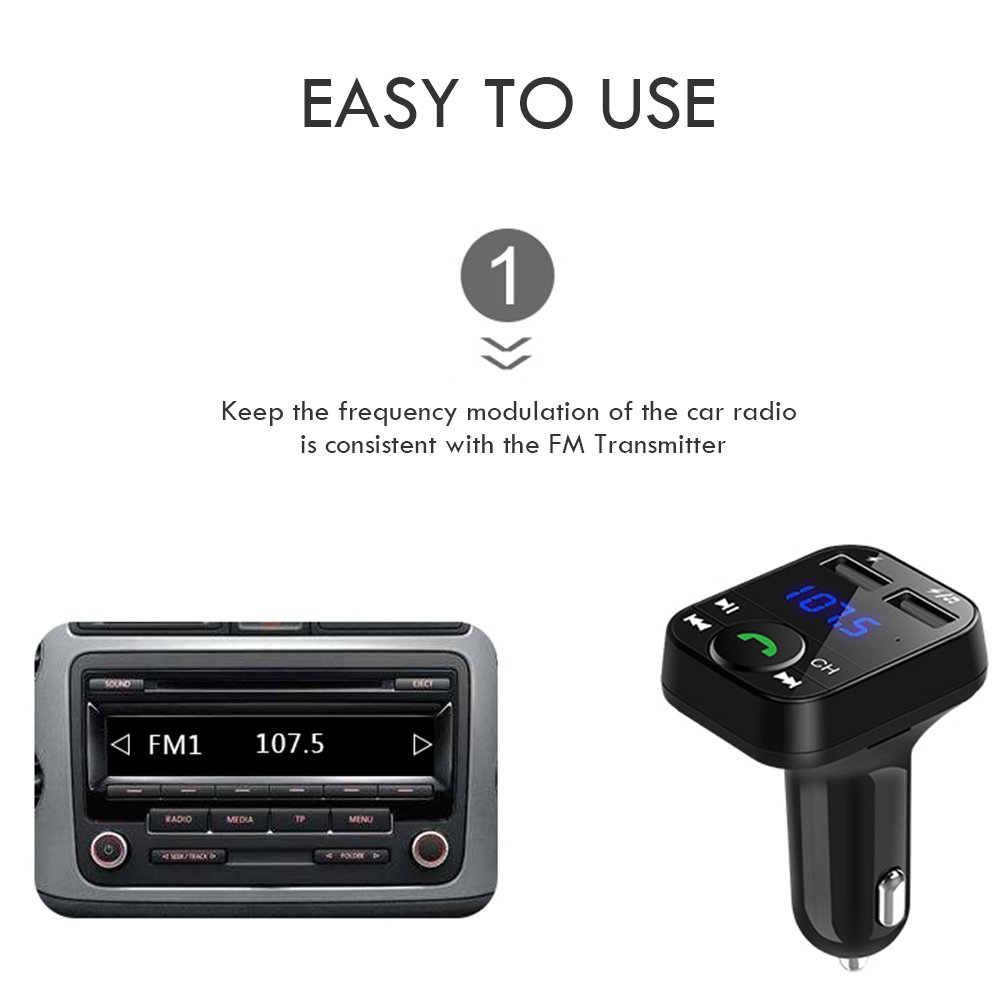 Kitbeez Wireless Bluetooth Fm Transmitter Handsfree View Large Photo Of Radio Integrated Circuit Call Car Charger Receivermp3 Music Stereo Adapterdual Usb Port Compatible