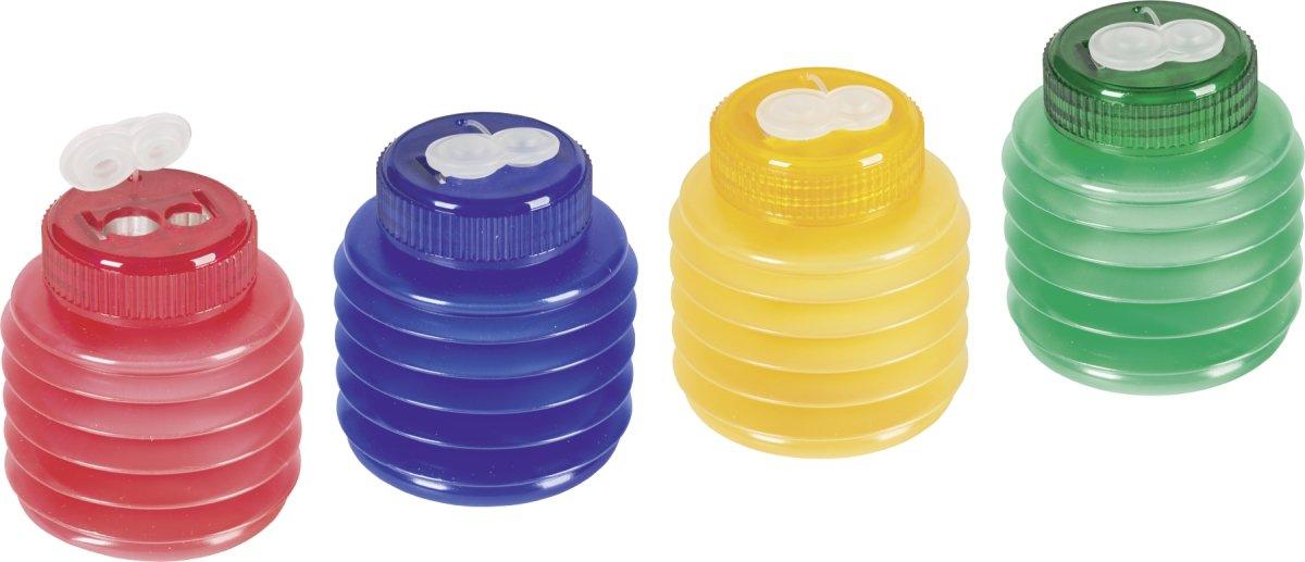Brunnen 1029899 Dosenspitzer Softie, 5,5 x 6,5 cm, mit flexiblem Deckel, Doppelspitzer, unzerbrechlich, 3 Farben) Baier & Schneider