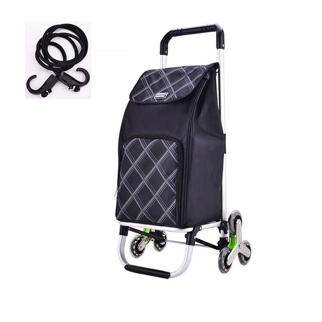 折りたたみショッピングカート、軽量アルミ合金食料品買い物かご小型カート折り畳み式携帯型トロリー家庭用荷物トレーラーG3 (色 : B) B07H7M8Y3M B