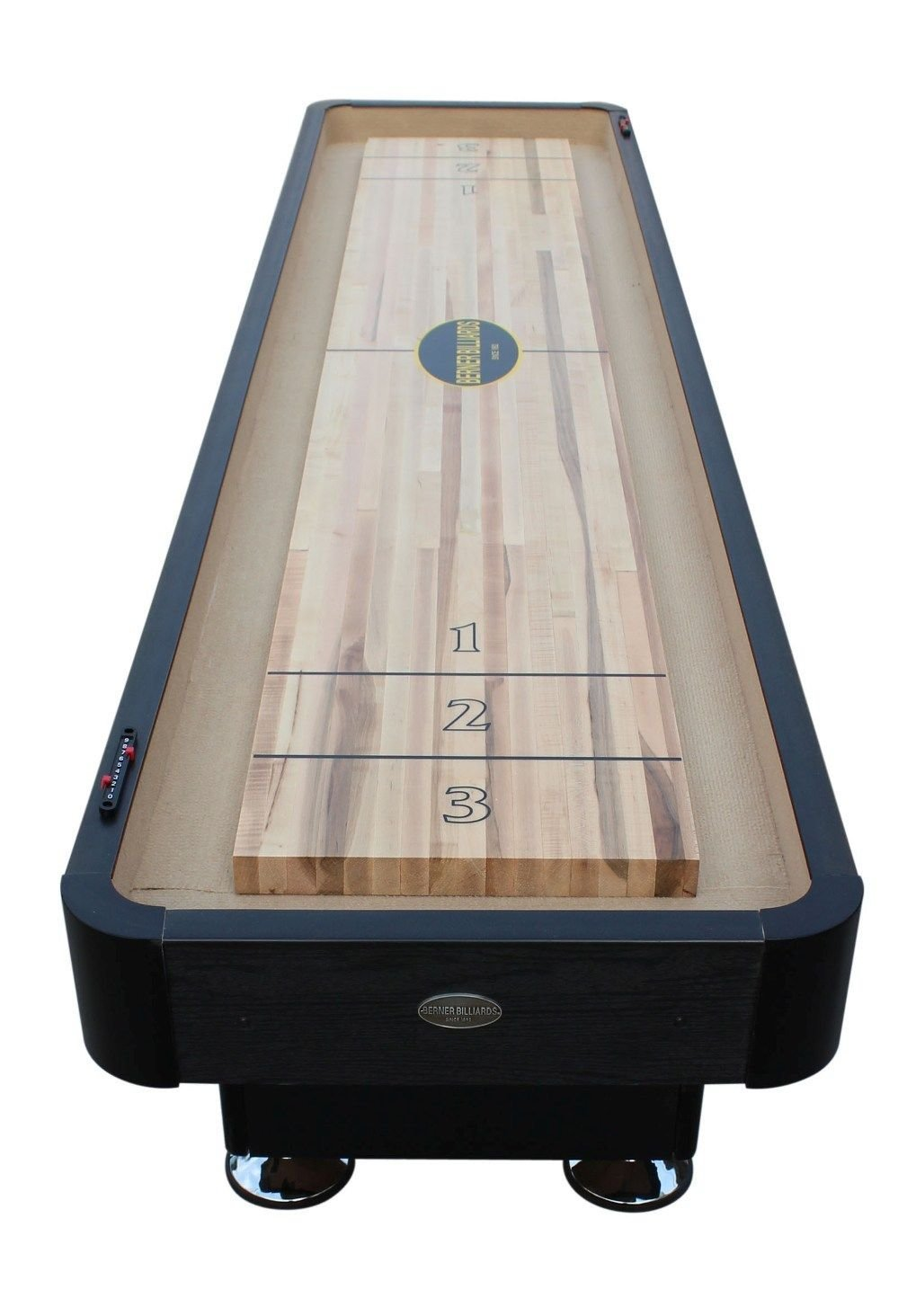 """The Standard"" 12 Foot Shuffleboard Table in Black by Berner Billiards"