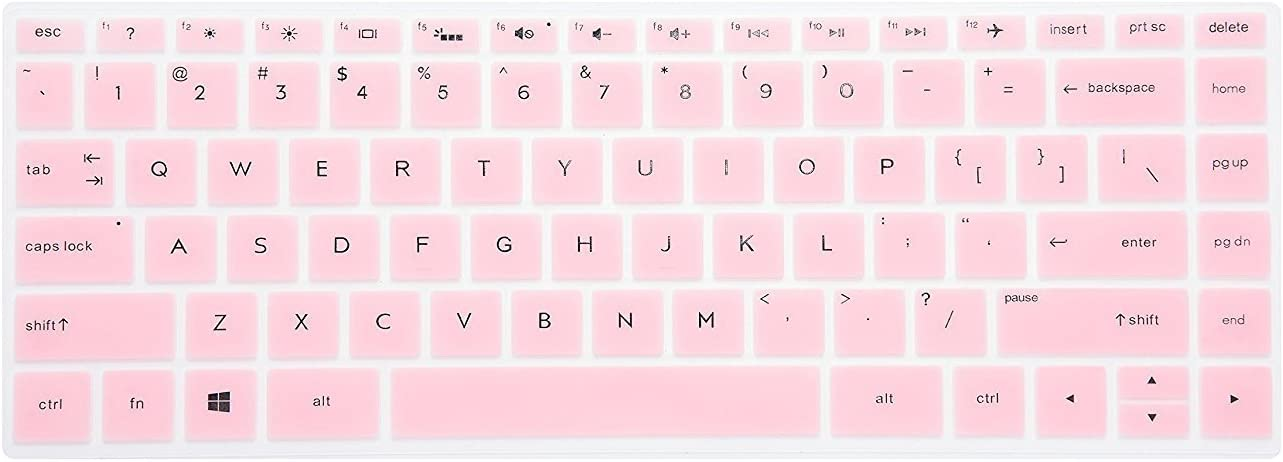 "Leze - Ultra Thin Keyboard Skin Cover for 15.6"" HP Spectre x360 15t [Released 2017], 15-BL012dx 15-BL112dx 15-BL075nr,15-AP011DX 15-AP011DX 15-AP012DX Series Touchscreen Laptop - Pink"
