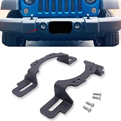 XJMOTO 4 inch LED Fog Light Front Bumper Mounting Brackets Adapter for 2013-2020 Jeep Wrangler Hard Rock Rubicon X,10th Anniversary Editions,75th Anniversary Edition: Automotive
