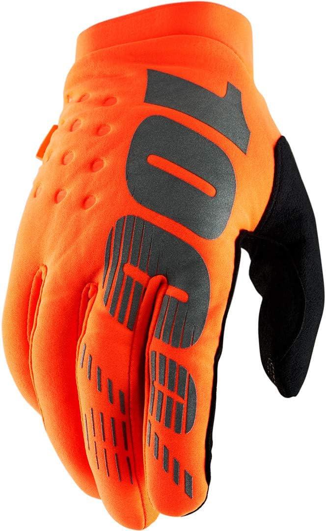 100/% Brisker Cold-Weather Youth Boys Off-Road Motorcycle Gloves Fluorescent Orange//Black//Medium