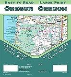 Oregon Large Print State Map