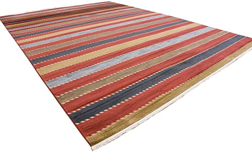 Unique Loom Fars Collection Tribal Modern Casual Multi Area Rug 13 0 x 18 0