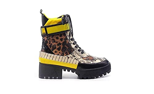 Cape Robbin Future Wave Commander Multi Snake & Yellow Combat Lug Sole Bootie by Cape Robbin