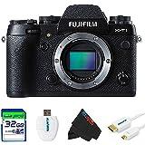 Fujifilm X-T1 Mirrorless Digital Camera Black (Body Only) + 32GB Pixi-Basic Accessory Bundle