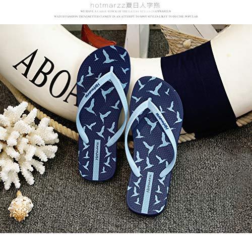 Flip Flops Taille Femmes Fuxitoggo Les Summer Flat 42 Beach Bleu EU Blanc Casual Clip pour Modèle coloré Toe PE4R56