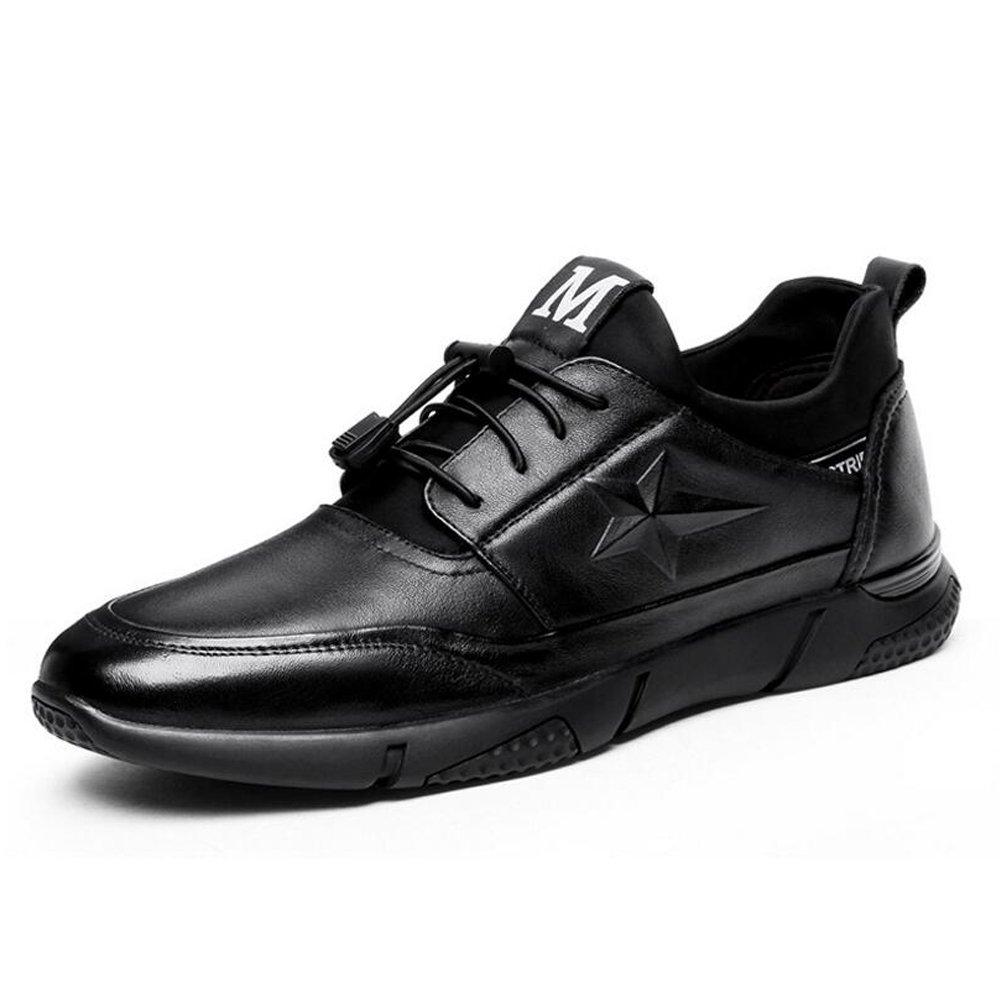 GAOLIXIA New Mens Gents Nero Slip On Wider Fitting Casual scarpe - Nero - UK Taglia 6-11 (Colore   nero, Dimensione   43)