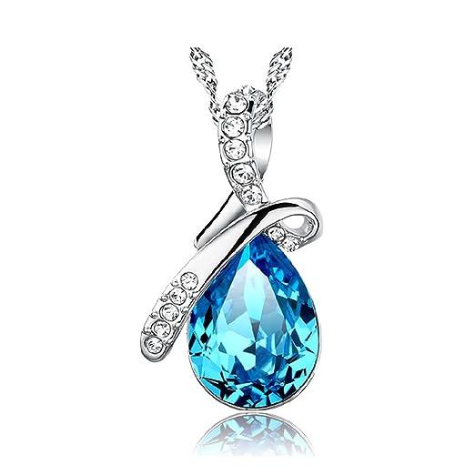 Kette Damen 925 Sterling Silber 3A Zirkonia Halskette exquisite Geschenk-B  by CJbrother 4aaf61be9d