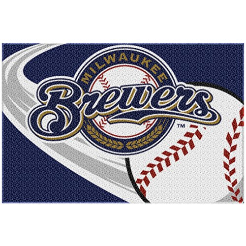 Milwaukee Brewers Rug (MLB Milwaukee Brewers Tufted Rug, 20