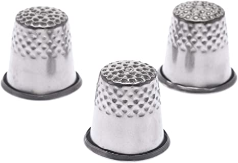 Metal Thimbles Finger Sewing Grip Shield Protector For Pin Needle Large Knitting