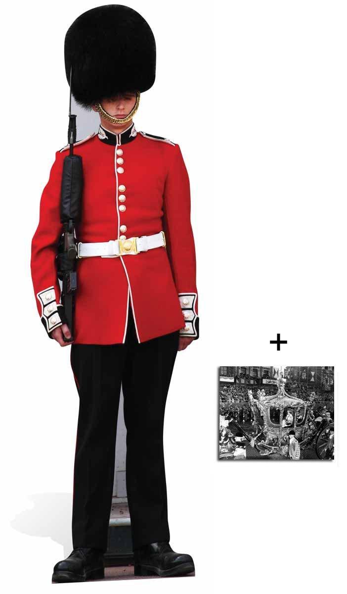 Fan Pack - The Queen's Guard Royal Family Guardsman Lifesize Cardboard Cutout - Includes 8x10' (20x25cm) Photo BundleZ-4-FanZ Fan Packs