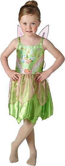 Peter Pan - Disfraz de Campanilla para niña, infantil talla 3-4 ...