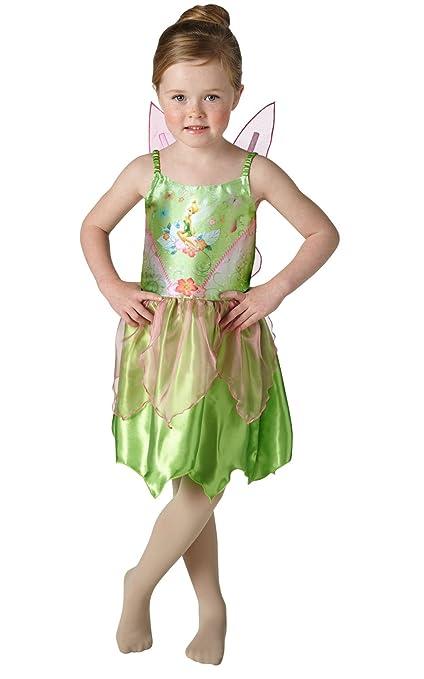 Peter Pan - Disfraz de Campanilla para niña, infantil talla 7-8 años (Rubies 620690-L)