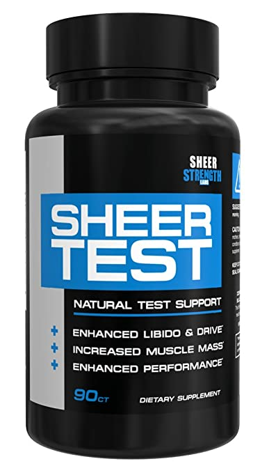 Sheer Testosterone Booster for Men - Natural Supplement for Increasing Strength