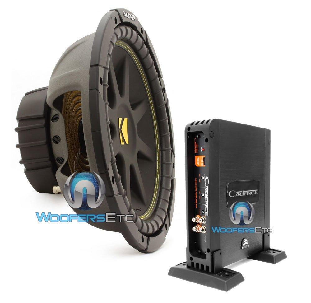 "Amazon.com: pkg Kicker 10C124 12"" 150W RMS Single 4-Ohm Comp Series  Subwoofer with Cadence XAH-125.2 500W 2-Channel Class A/B Car Amplifier: Car  Electronics"