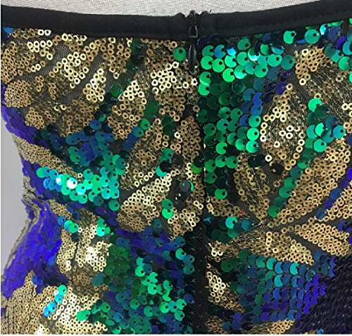 Bodycon Comfy Slim Femme Sequin Fines Bretelles Mini Robe Sling D'or