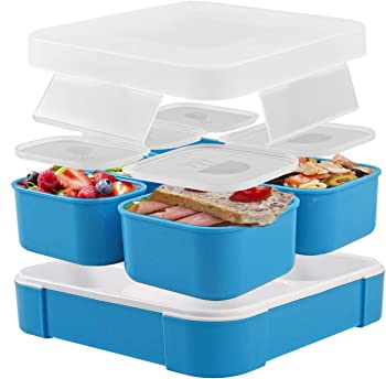 Fun Life Bento Lunch Box with 5 Compartment