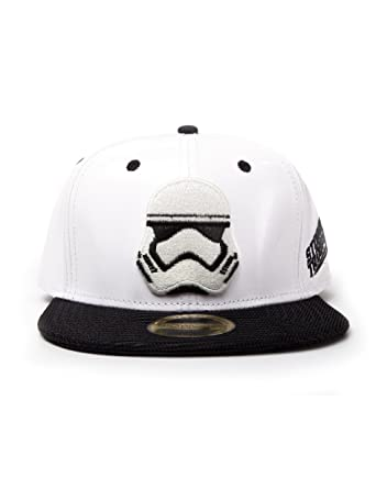 Star Wars Stormtrooper Snapback Cap Blanco-Negro