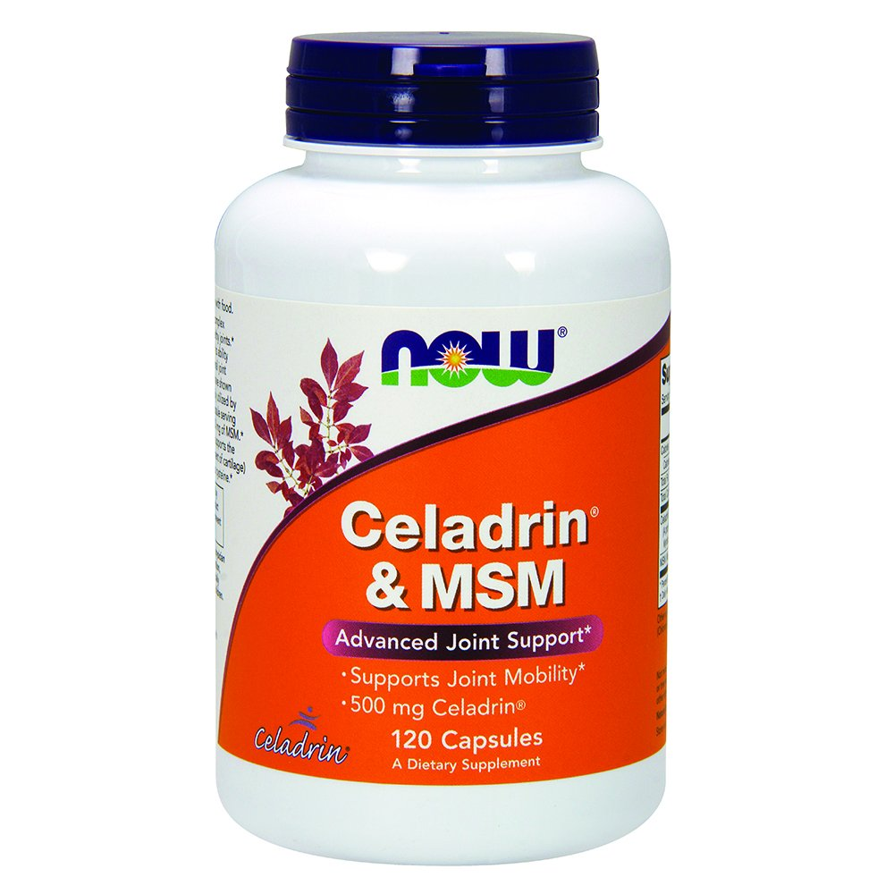 NOW Celadrin & MSM 500 mg,120 Capsules