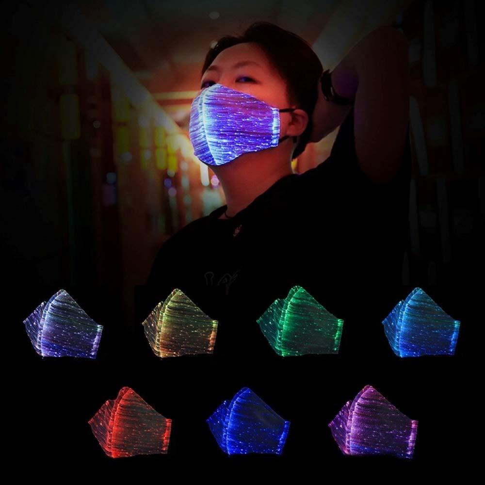 Light Up Party Masks 2019... AIGO2C LED Dust Mask 7 Glow Color Rave Masks