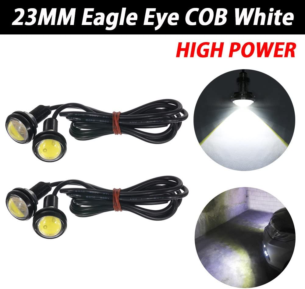 TABEN 23mm LED Amber Eagle Eye Car Light High Power 9W LED Daytime Running DRL Tail Reverse Backup Parking Signal Bulbs 12V Pack of 10