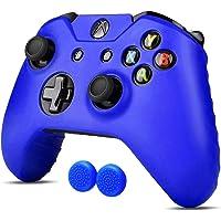 Xbox One S / X Funda Silicona + 2 Grips Texturizados (Azul) Funda de Silicon para control de XBOX Alomia - Estuche de silicon anti deslizante, Funda protectora, Cubierta para control de XBOX 1.