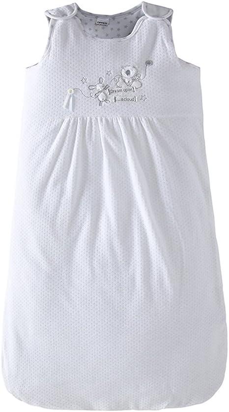 Saco de Dormir Bebe 0-3 Meses - Recién Nacido Saco de Dormir 2.5 Tog Lindo Manta de Bebé Sin Mangas,Blanco: Amazon.es: Bebé