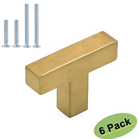 Homdiy Gold Cabinet Knobs For Dresser Drawers 6 Pack Hdj12gd