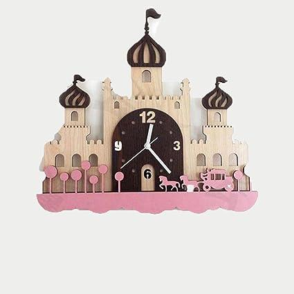 TIAMO Home Store Relojes de pared europeos silenciosos Sala de estar de los niños Ideas de