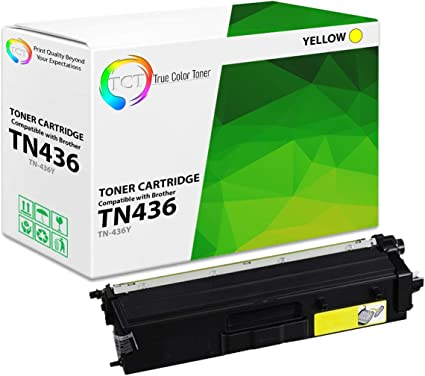 Yellow Overall Defect Rates Less Than 1/% Replaces Brother TN-436Y Lower Cost Alternative to Brother Brand TN436Y Yellow Search4Toner Compatible Replacement for Brother TN436