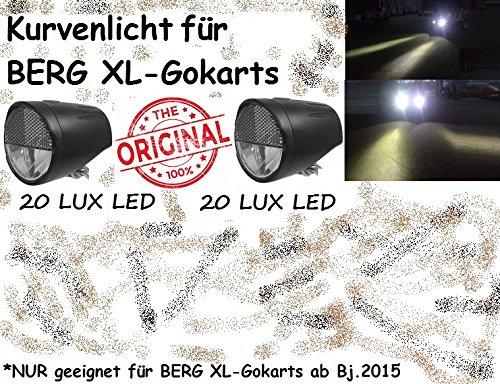 Gokart LED Kurvenlicht Scheinwerfer 2xFront PitchBlack DESIGN