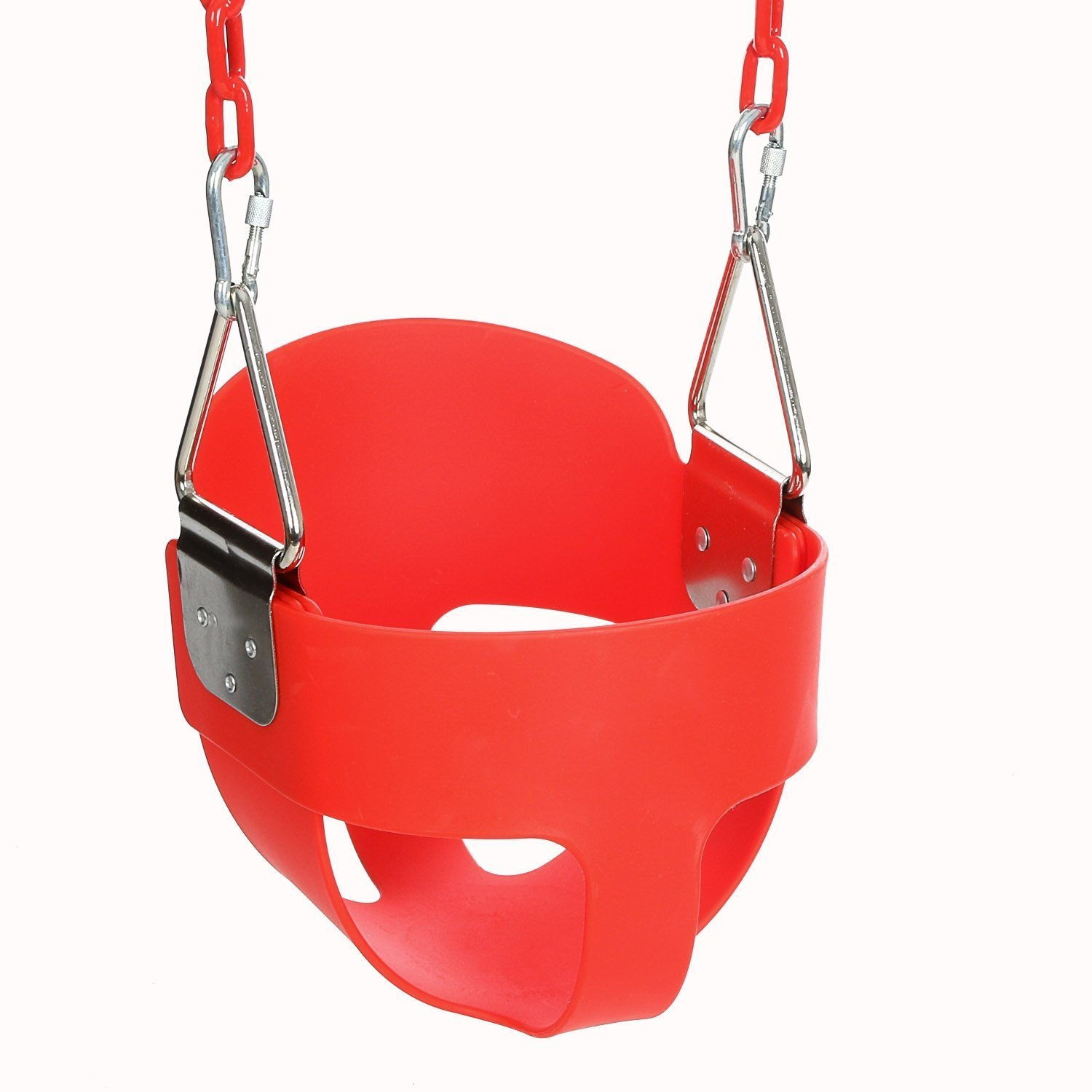 Fashine Bucket Swing Seat Outdoor Kids Child High Back Full with Coated Chain Home Garden