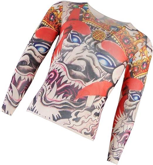 Elástico Camisa de Tatuaje Real Temporales para Deporte Camiseta con Estampado para Hombre - No 21: Amazon.es: Hogar