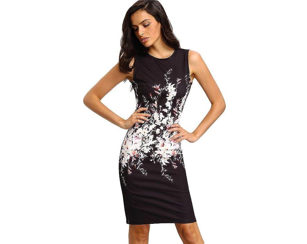 Vestidos de Fiesta de Noche Elegantes De Mujer Casuales Cortos Pegados Al Cuerpo at Amazon Womens Clothing store: