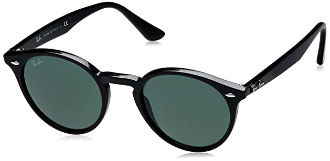 30df5982b88 Ray-Ban INJECTED MAN SUNGLASS - BLACK Frame GREY GREEN Lenses 49mm Non- Polarized