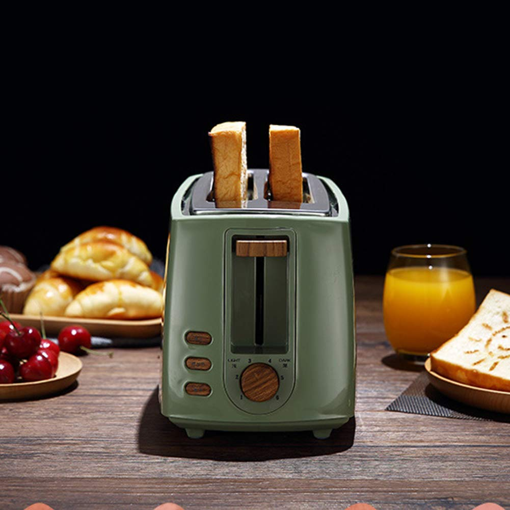 Gyswshh 2-slice Automatic Electric Toaster, Breakfast Maker,Household Bread Toast Machine Green by Gyswshh (Image #2)