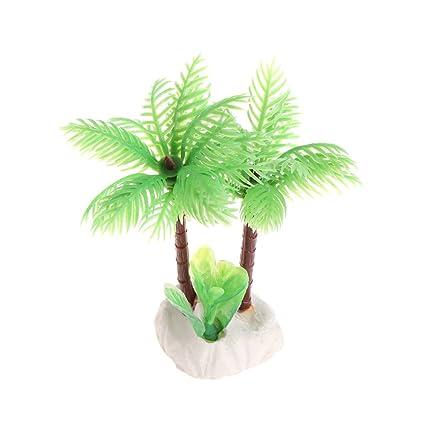 BouT - 1 árbol de Coco para Acuario, diseño de pecera, Color Blanco