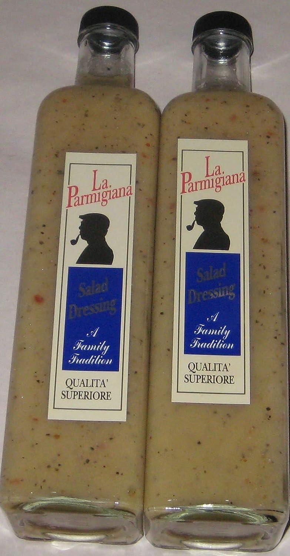 La. Parmigiana Italian Salad Dressing, Made in Southampton, NY. 17oz each