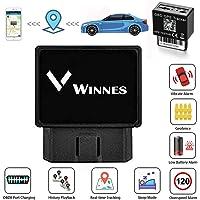 Winnes Rastreador GPS para Automóvil OBDII, Localizador GPS Personas en Tiempo Real del Tracker GPS GMS para Carro, Lifetime Free Web Android iOS APP-TK816