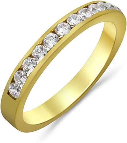 Goldring Gold 585 Gelbgold 14K Memory Memoire Damen Ring