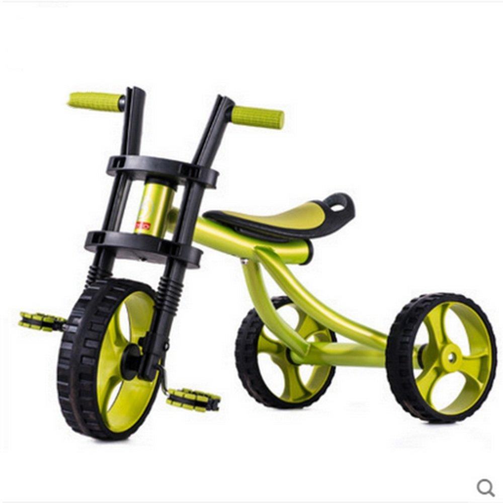 YANGFEI 子ども用自転車 子供用三輪車、ビーチバイク、子供用自転車、2-5ベビーカー、ベビーおもちゃ車 212歳 B07DWWFZDW緑